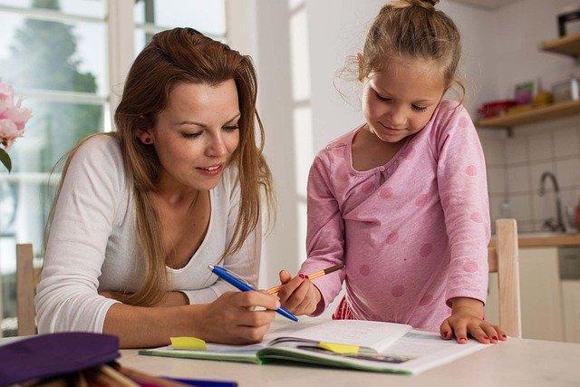 Woman and Child doing homework, Liberty Scholar, Florida Citizens Alliance, FL